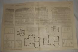 Plan D'une Villa à Houppertingen En Belgique. M. A. Foucart, Architecte. 1911 - Travaux Publics