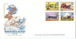 Swaziland 1974 Scott 214-217 FDC Universal Postal Union Centenary - Swaziland (1968-...)