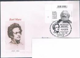 Bund, Brief Karl Marx, SSt.Jena Cod. - BRD