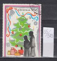 35K503 / Christmas Noel Weihnachten 1968 TREE MAN WOMAN BALL  , BIRD DOVE PIGEON , CINDERELLA LABEL VIGNETTE , - Cinderellas