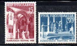 YUG79D - YUGOSLAVIA 1955,  Unificato N. 665/666  Nuovi  *** - 1945-1992 Repubblica Socialista Federale Di Jugoslavia