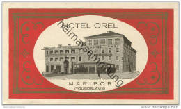 Maribor - Hotel Orel - Hotel Sticker 8cm X 13,5cm - Hotel Labels
