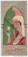 Ujvideki Orient Asvanyviz - Serbien - Hotel Sticker 6,5cm X 13,5cm - Hotel Labels