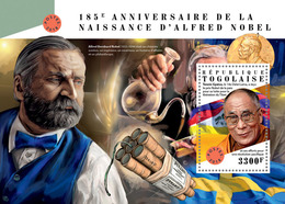 TOGO 2018 - Alfred Nobel S/S. Official Issue. - Nobel Prize Laureates