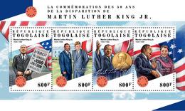 TOGO 2018 - M.L. King, Nobel Prize. Official Issue. - Nobel Prize Laureates