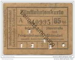 Schöneiche Kalkberge - Strassenbahnverband Schöneiche-Kalkberge - Fünffahrtenkarte - Schloss Und Friedrichshagen - Strassenbahnen