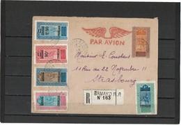LCA11 - HAUT SENEGAL ET NIGER ENVELOPPE ACEP N° 6 VOYAGEE AVEC COMPLEMENTS REC. BAMAKO/STRASBOURG ARR. 28/2/28 - Soudan (1954-...)