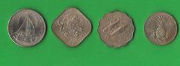 Bahamas 5 + 10 + 25 + 50 Cents 1966 - Bahamas