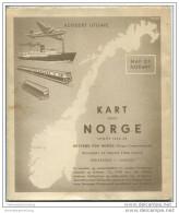 Norwegen 1952 - Rutebok For Norge - Massstab 1:1.000.000 - 76cm X 88cm - Maps Of The World