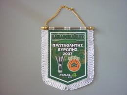 Panathinaikos Basketball Pennant Euroleague Athens Final Four 2007 Winner - Habillement, Souvenirs & Autres