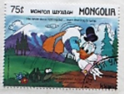 Timbre Donald Duck - Mongolia - 1987 - Disney