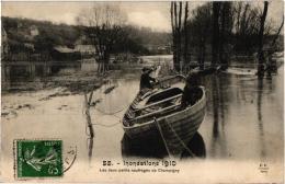 INONDATIONS 1910 LES DEUX PETITS NAUFRAGES DE CHAMPIGNY  REF 56523 - Champigny Sur Marne