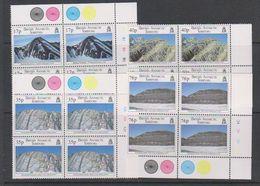 British Antarctic Territory (BAT) 1995 Geological Structures 4v Bl Of 4 ** Mnh (39459A) - Ongebruikt