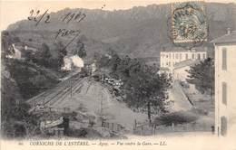 06-AGAY- CORNICHE DE L'ESTEREL, VUE CONTRE LA GARE - Autres Communes