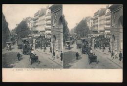 PARIS = CARTE STEREO =  BOULEVARD ST.DENIS - France