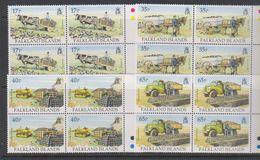 Falkland Islands 1995 Transporting Peat 4v Bl Of 4 ** Mnh (39459D) - Falklandeilanden
