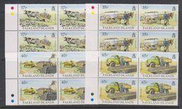 Falkland Islands 1995 Transporting Peat 4v Bl Of 4 ** Mnh (39459E) - Falklandeilanden