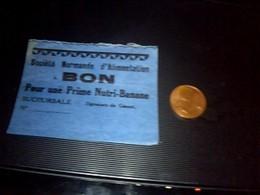 Ticket Bon Prime Pour Une Prime Nutri  Banane Societe Normande D Alimentation - Old Paper