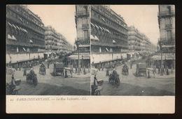 PARIS INSTANTANE = CARTE STEREO =   LA RUE LAFAYETTE - France