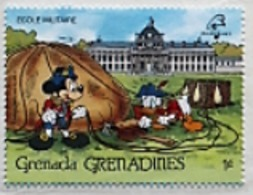 Timbre Mickey Mouse Et Donald Duck - Grenadines - 1989 - Disney