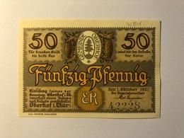 Allemagne Notgeld Oberhof 50 Pfennig - [ 3] 1918-1933 : Weimar Republic
