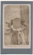 1 CDV - Portrait Militaire - Dragon - Avec Casque Et Sabre - Par Lutgen-Perot à Vaucouleurs (Meuse) - Guerre, Militaire