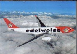 Airbus A 330-243 HB-IQZ BAHARI Aircraft EDELWEISS AIRLINES A A330 Avion Aviation Aiplane A.330 Luft A-330 - 1946-....: Era Moderna
