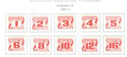 Canada Postage 1969/74 Numerals  Scott.J 28/37 +See Scan On Scott.Page - Segnatasse
