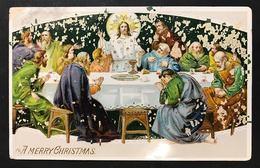 A Merry Christmas BUON NATALE VIAGGIATA 1922 Francobollo Asportato CODICE Bu.144 - Altri