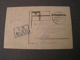 DR Feldpost 1917 Nach Bilin Tschechien - Germany