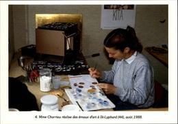 44 - SAINT-LYPHARD - émaux D'art - 1988 - Carte Moderne - Saint-Lyphard