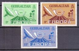 Gibraltar 1979 Europa, Communication, Telecom, Telephone, Dish Antenna (3v) MNH (M-153) - Space