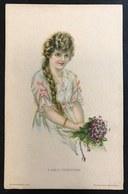 Donnina American Girl N°84 Non VIAGGIATA Ma Scritta , Primi 900 COD.BU.150 - Pin-Ups