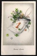 BONNE ANNEE BUON ANNO VIAGGIATA 1954 Senza Francobollo CODICE BU.151 - Non Classificati