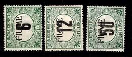 Fiume Timbres-taxe YT N° 1/3 Neufs *. Signés Calves. B/TB. A Saisir! - 8. WW I Occupation