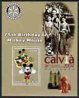 20 -2  ; DISNEY ;  BENIN ;  75th An.WALT DISNEY ; CALVIA ; POPE JOHN PAUL - Fantasie Vignetten