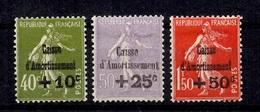 France Caisse D'Amortissement YT N° 275/277 Neufs *. B/TB. A Saisir! - France
