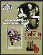 20 -3  ; DISNEY ;  BENIN ;  75th An.WALT DISNEY ; CALVIA ; POPE JOHN PAUL - Fantasie Vignetten