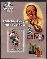 20 -7  ; DISNEY ;  BENIN ;  75th An.WALT DISNEY ; CALVIA ; POPE JOHN PAUL - Fantasie Vignetten