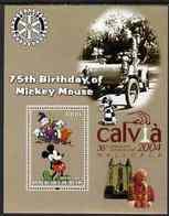 20 -8  ; DISNEY ;  BENIN ;  75th An.WALT DISNEY ; CALVIA ; POPE JOHN PAUL - Fantasie Vignetten