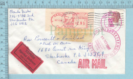 Dania FL Meterstamp, Cover Fort Lauderdale, 1985, Express StickerMany Red Postmark - Etats-Unis