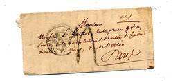 Lettre  Cachet Rouen  ? Decimes + Paris Bleu + G.II + ??? - 1801-1848: Vorläufer XIX