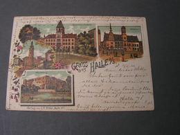 Halle Litho Bahnpost   1900 Litho Not Perfect - Halle (Saale)