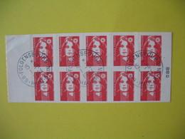 Carnet  Type Marianne  De Briat  N° 2874 C1  Oblitération Folgensbourg  Au 1/8/1994 - Usage Courant