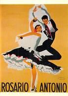 PUB Publicité  NUGERON  J 45 ROSARIO Et ANTONIO  (danse Dance Flamenco Illustration Paul COLIN ) * PRIX FIXE - Advertising