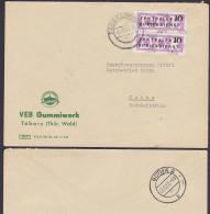 DDR ZKD B14(9004) Brief, Tabarz Thüringen Gummiwerk Inselsberg 3.12.57 Nach Gotha - [6] République Démocratique