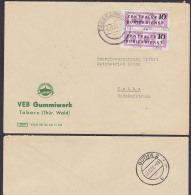 DDR ZKD B14(9004) Brief, Tabarz Thüringen Gummiwerk Inselsberg 3.12.57 Nach Gotha - [6] República Democrática