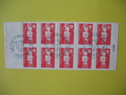 Carnet  Type Marianne  De Briat  N° 2874 C1  Oblitération Folgensbourg  Au 23/6/1993 - Usage Courant