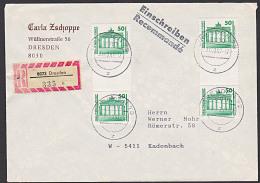 Germany East  DDR VGO R-Brief Mit Senkr. Zdr. Berlin Brandenburger Tor SZ 25 (2), Portogenau - [6] Oost-Duitsland