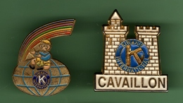 KIWANIS INTERNATIONAL *** Lot De 2 Pin's Differents *** 0038 - Associations